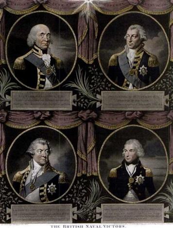 the british naval victors (4 works) by lemuel francis abbott