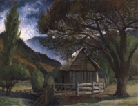 the barn among the trees, jambaroo by george bernard duncan
