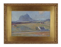 cottage by suilven from the east by william mervyn glass