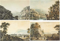 four views of bray and the sugarloaf, county wicklow (set of 4) by john henry campbell