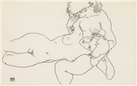 zwei weiblicher akte (two female nudes) by egon schiele