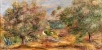 arbres (paysage de cagnes) by pierre-auguste renoir