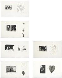 photographs & etchings (portfolio of 16 diptychs) by lee friedlander and jim dine