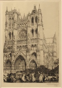 cathedrale d'amiens by auguste louis lepère