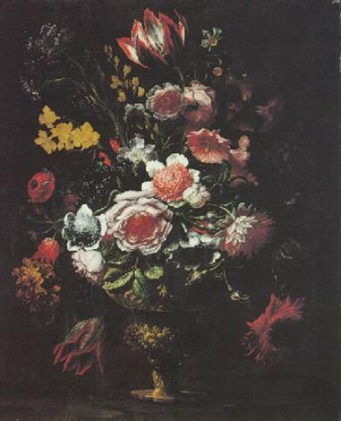 Still Life Of Flowers In An Ormolu Vase By Andrea Scacciati On Artnet
