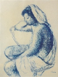 mujer sentada by francisco serra