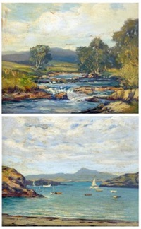 near dolgelly and near holyhead, north wales (2 works) by augustus william enness