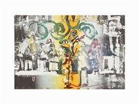 introduction of a blues queen by romare bearden