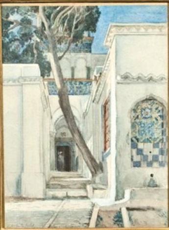 intérieur dun palais oriental by abel orry