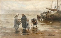 the return of the fishing boat by philip lodewijk jacob frederik sadée