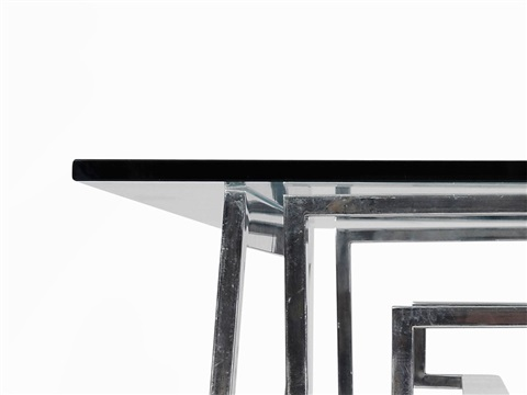 Steel And Glass Centre Table By Romeo Rega
