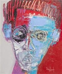 portrait de jean michel basquiat by victor hasch