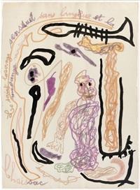 le saint losange sensuel sans langue et la mesange moutarde by gaston chaissac