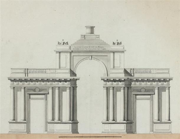 projet dun arc de triomphe en mémoire de la reprise de la ville de toulon by antonin montaudoin