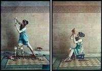 grecque devant une frise antique (2 works) by edmond goldschmidt