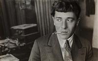 portrait of semyon kirsanov (poet), taken at the rodchenko studio (21 myasnitskaya street, now kirov street) by alexander rodchenko