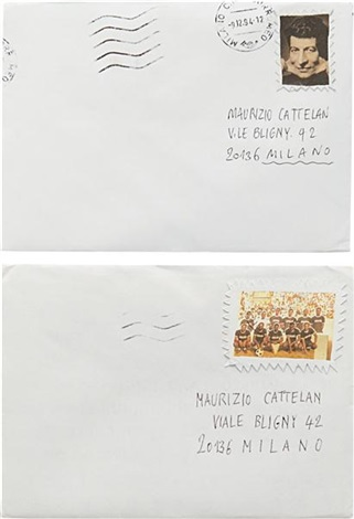 untitled two envelopes 2 works by maurizio cattelan
