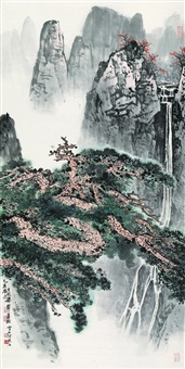 landscape by bai xueshi and liang shunian