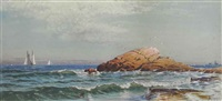 little bass rock, narragansett, rhode island by alfred thompson bricher