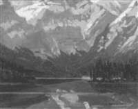 morraine lake by a. c. valentine