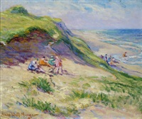 beach with bathers by anne wells munger