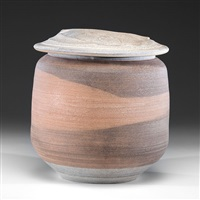 large lidded vessel by karen karnes