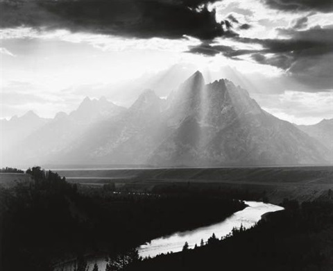 grand tetons wyoming by minor white