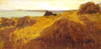 chaumière bord de mer by alfred victor fournier