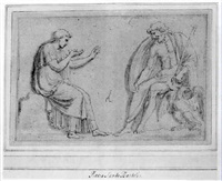 jupiter listening to a supplicating figure by pietro santi bartoli