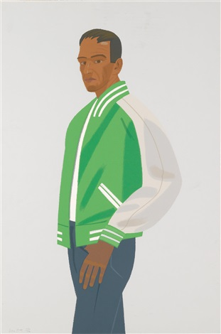 green jacket from alex and ada the 1960s to the 1980s by alex katz