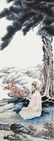 人物 by zhang daqian