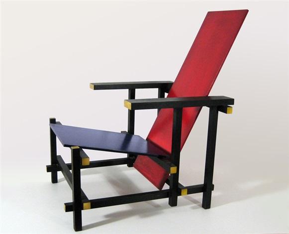 Stoel Gerrit Rietveld : Blauw rode stoel by gerrit rietveld on artnet