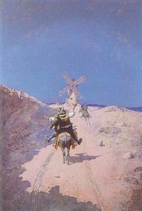 don quixote tilting at windmills by jose atalaya