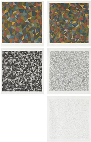 complex forms set of 5 by sol lewitt