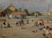 le marché à feodossia by mikhail volodine