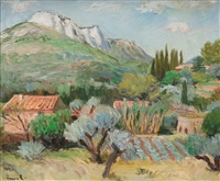 paysage aux rochers by yves brayer