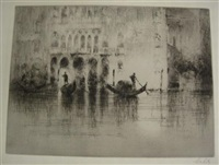 grand canal, venezia (+ palazzo ca d'oro; 2 works) by sydney mackenzie litten