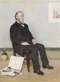 self-portrait by oliver dennett grover