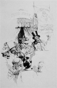 sideshow barker and rapt audience by john wolcott adams
