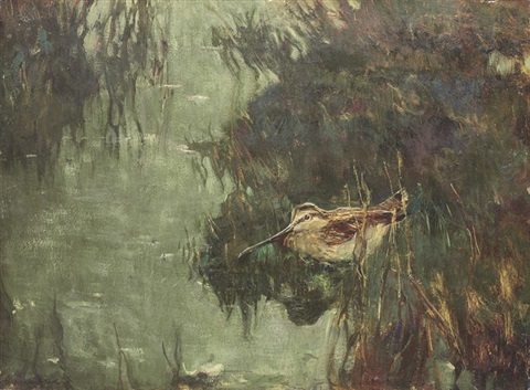 snipe at twilight by charles walter simpson