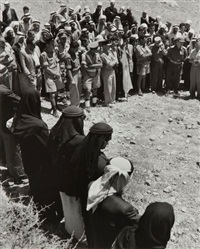 regroupement de chefs palestiniens, israël by robert capa