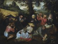 scena di festa in un villaggio by pieter brueghel the younger