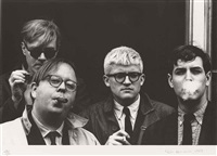 andy warhol, henry geldzahler, david hockney and jeff goodman (from geldzahler) by dennis hopper