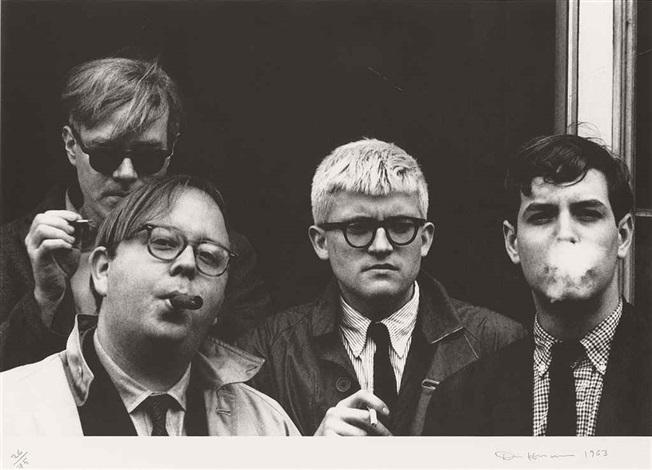 andy warhol, henry geldzahler, david hockney and jeff goodman (from geldzahler) by dennis hopper