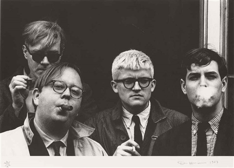 andy warhol henry geldzahler david hockney and jeff goodman from geldzahler by dennis hopper