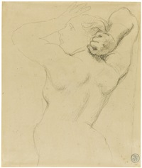 study of an anguished woman, for the martyrdom of st. symphorien by jean-auguste-dominique ingres