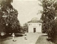 a rotunda in a garden, calcutta by frederick fiebig