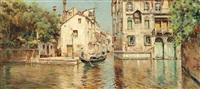 a gondolier on a venetian backwater by antonio maría de reyna manescau