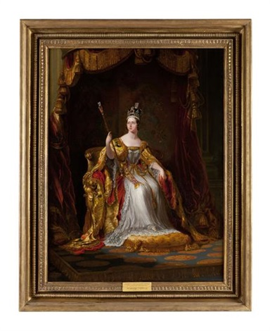Coronation Portrait Queen Victoria by G Hayter 8x10 Print Royal Crown Art 0110