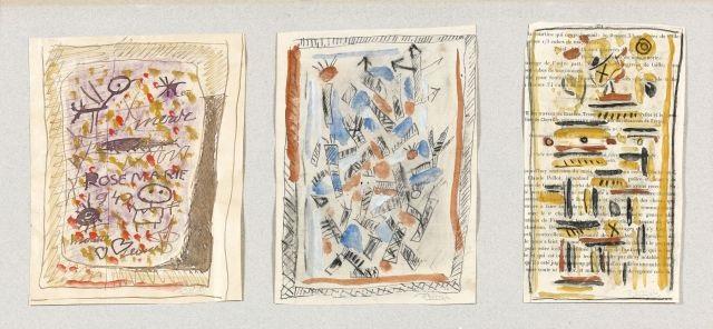 trois études, (rose-marie, composition, composition) (3 works) by roger bissière